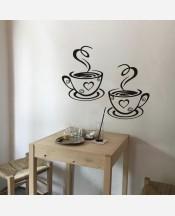 """Наклейка винил на стену """"Чашки кофе"""" 9046452"""