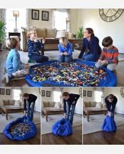 Коврик-сумка для мелких игрушек 150 cм. Цвет синий 904470