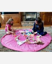 Коврик-сумка для мелких игрушек 150 cм. Цвет розовый 904469