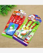 Набор простых карандашей Новогодних 3 шт с ластиками 9046294