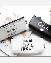 """Пенал экокожа """"Cat is always right"""", в ассортим, цвета черный/белый. 9046129"""