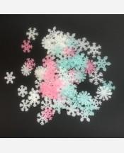 Набор снежинок светящихся в темноте, 50 шт. 9046287