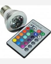 Лампочка светодиодная многоцветная с пультом дистанционного управления 903934
