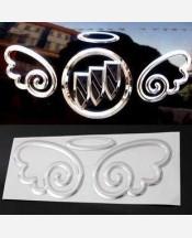 """Наклейка """"Ангел 3D"""" на эмблему авто 904200"""
