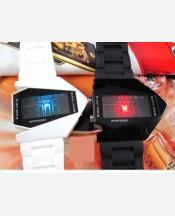 LED-часы «Истребитель» Белый ремешок 903469
