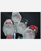 """Часы наручные """"Hello Kitty"""" со стразами. Цвета в ассортименте 903488"""