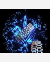 """LED-часы """"Самурай"""" Серебристый браслет, синие диоды 9046180"""