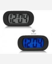 """Часы настольные """"Большой циферблат"""" электронные с подсветкой и будильником. Цвет черный 904219"""