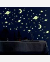 """Наклейка интерьерная винил """"Ночное небо"""", светится в темноте 904634"""
