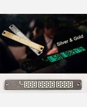 "Табличка на стекло авто Золото/Серебро ""Правила парковки2"", светится в темноте 904711"
