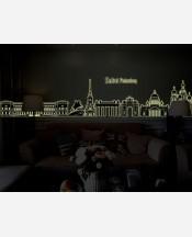 """Наклейка интерьерная """"Санкт Петербург"""", светится в темноте 904739"""
