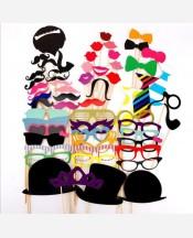 Фотобутафория, 58 предметов (усы, очки, улыбки, галстуки и др). 9046023