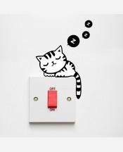 Наклейка на выключатель котенок 9046114