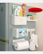 Набор 5 в 1 полок, крючков и держателя для бумажных полотенец на холодильник 9046120
