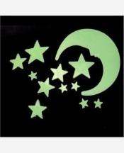 """Набор светонакопителей """"Луна и звезды"""" пластик. Упаковка полиэтилен. 903835"""