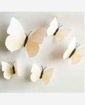 """Набор """"Бабочки объемные"""" 12 шт из картона. Цвет белый 9046189"""