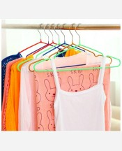 Плечики для одежды резиновое покрытие 40*20 см металл/ПВХ 9046195