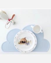 Сервировочный детский силиконовый коврик-облако на обеденный стол.