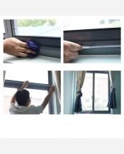 Москитная сетка на окно с крепёжной лентой на липучках 1,3*1,5 м 9046248