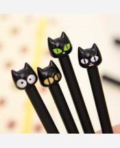 Ручка Черный Кот с черной гелевой пастой 9046317