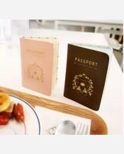 Обложка на паспорт, 4 карм. внутри. Цвет розовый 9046418