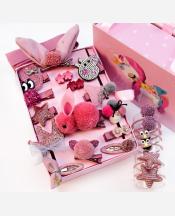 Набор подарочный детских резинок и заколок, 24 предм 9046369